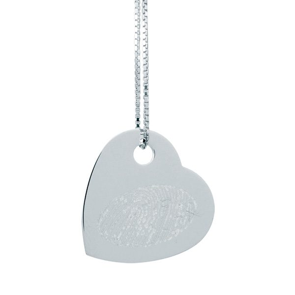silverplate normal in flat heart lee silver null lyst plate product morris jewelry metallic necklace robert